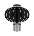 black and white chinese paper lantern silhouette vector image vector image