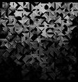 black and white geometric triangular background vector image vector image