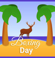 boxing day island concept background cartoon vector image