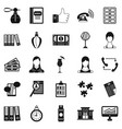 business studio icons set simple style vector image vector image