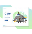 cafe website landing page design template vector image vector image