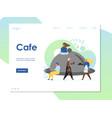 cafe website landing page design template vector image vector image