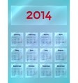 Calendar On The Glass vector image vector image