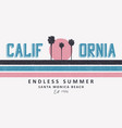 california santa monica t-shirt design with palm vector image vector image