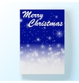 Christmas hollyday card 2 vector image
