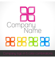 Company logo in five color combinations vector image