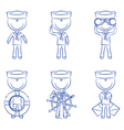Cute sailors set vector image