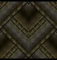 dark 3d greek key meanders seamless pattern vector image vector image