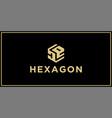 de hexagon logo vector image vector image