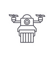 delivery by drones line icon concept delivery by vector image