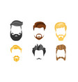 different male hairstyles beards and mustaches vector image vector image