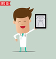 Doctor show a report - - EPS10 vector image