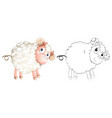 doodle animal for little lamb vector image vector image
