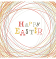 easter greeting card nest symbolic vector image vector image