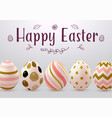 easter greeting card with abstract eggs vector image