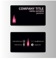 elegant template business card vector image vector image