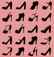 fashion shoes icons vector image
