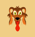 flat icons on theme funny animals dog vector image vector image