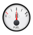 fuel gauge half full tank round car dashboard 3d vector image