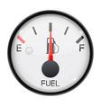 fuel gauge half full tank round car dashboard 3d vector image vector image