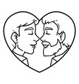 gay couple love vector image