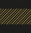 gold black circle garland seamless pattern vector image vector image