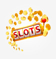 golden slots machine wins the jackpot vector image vector image