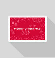 greeting christmas card with pattern vector image