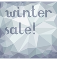 Grey geometric sale advertising background vector image vector image