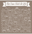 hand-drawn Doodle collection of coffee vector image vector image