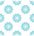 hand drawn seamless pattern with mandalas vector image vector image