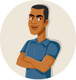 handsome male avatar with arms crossed vector image