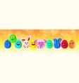 happy easter holiday celebration banner flyer or vector image