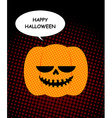 Happy Halloween Pumpkin with bubble pop art Jolly vector image
