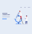 modern laboratory website banner with people and vector image vector image