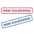 New Caledonia Rubber Stamps vector image vector image
