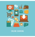 Online banking and business vector image vector image