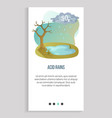 pollution in atmosphere acid rain recycle app vector image