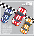 racing cars at finish line vector image vector image