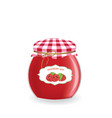 raspberry jam jar vector image
