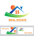 Real estate house abstract logo vector image vector image