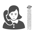 Receptionist Icon With Bonus vector image vector image