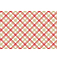 Red beige check diagonal fabric texture background vector image vector image