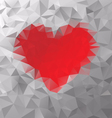red heart polygonal triangular pattern background vector image vector image