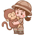 safari girl vector image vector image