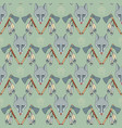 seamless native american pattern with wolves and vector image vector image