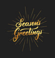 seasons greetings text lettering design christmas vector image