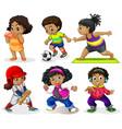 set african kids vector image