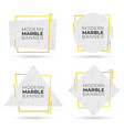 set modern banners with marble texture vector image vector image