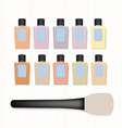 Set of realistic foundation different colors and vector image vector image